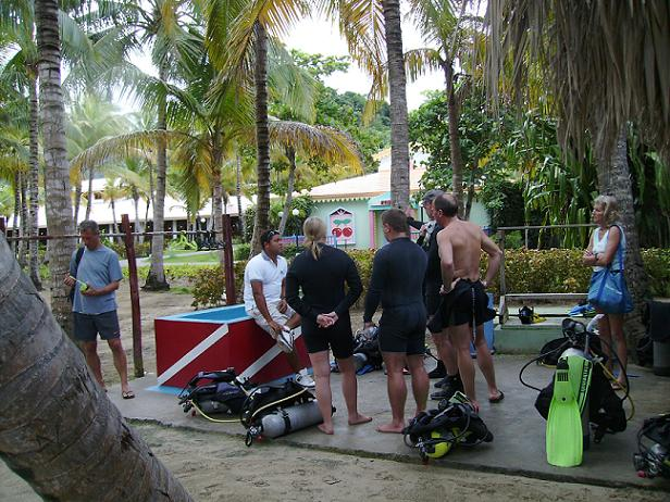 diving briefing