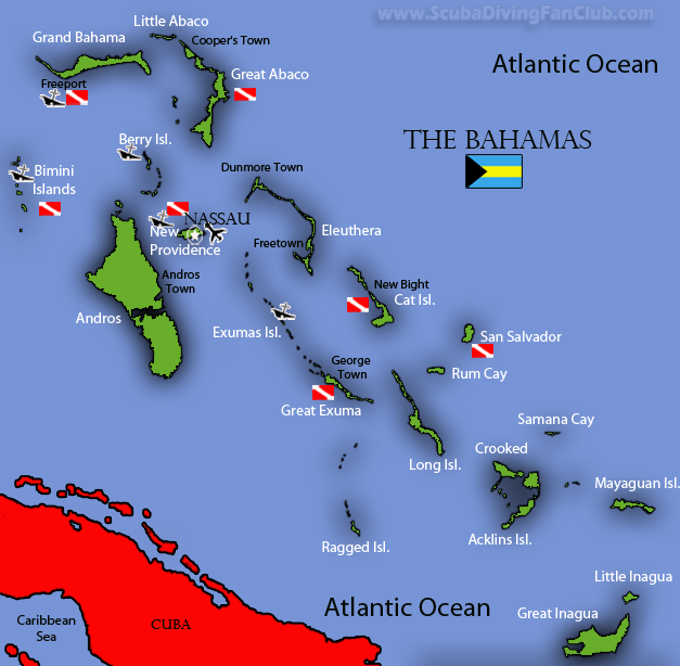 Diving-the-Bahamas map