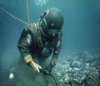 Diver Working
